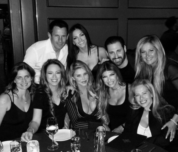 Brandi Glanville, Teresa Giudice, & Dina Manzo In LA With Friends