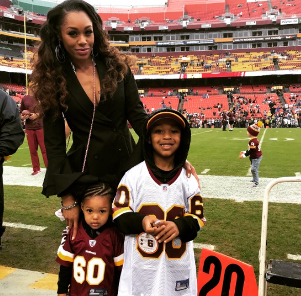 Monique Samuels With Her Children