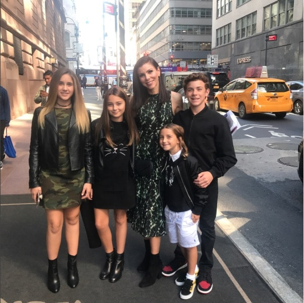 Heather Dubrow In NYC With Her Kids