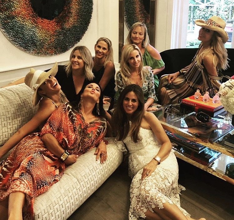Teddi Mellencamp Arroyave, Kyle Richards, Camille Grammer, & Faye Resnick With Friends