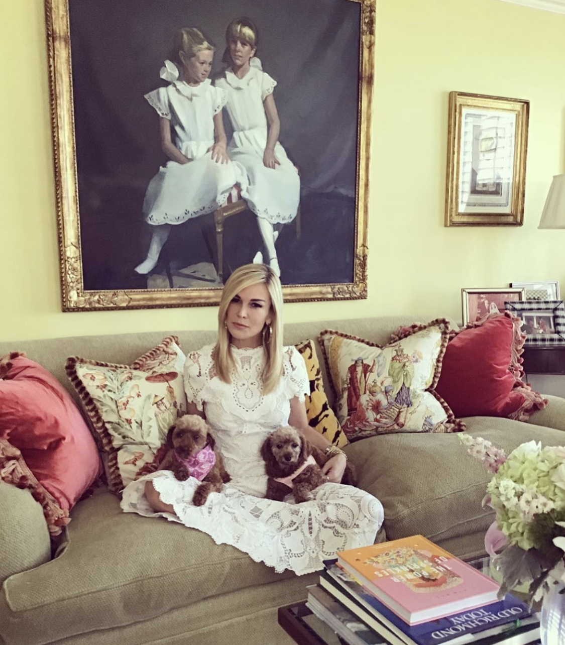 Tinsley Mortimer With Her New Dogs