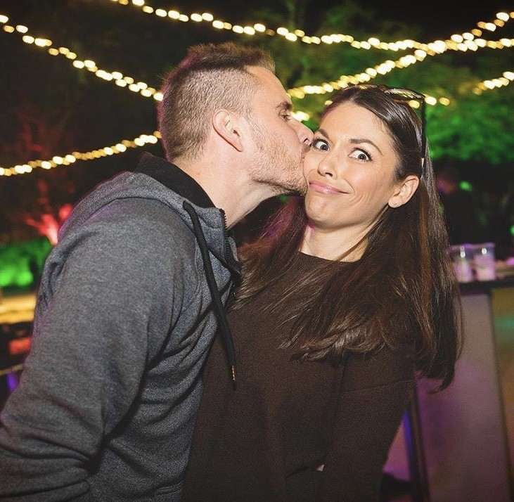 DeAnna Stagliano Getting A Kiss From Her Husband