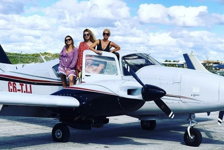 Caroline Stanbury In The Bahamas With Juliet Angus