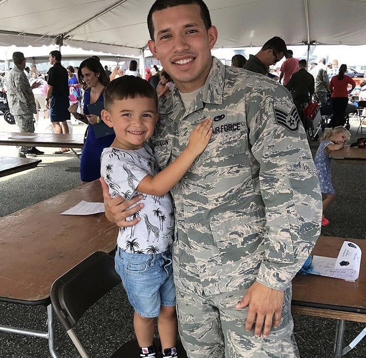 Javi Marroquin With His Son Lincoln