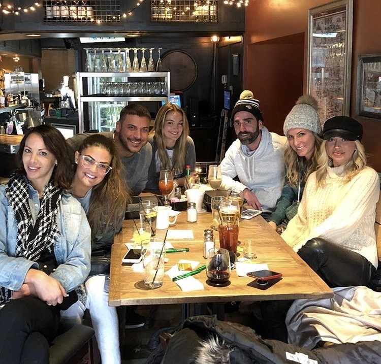 Britanny Cartwright, Kristen Doute, & Stassi Schroeder With Jax Taylor & His Family