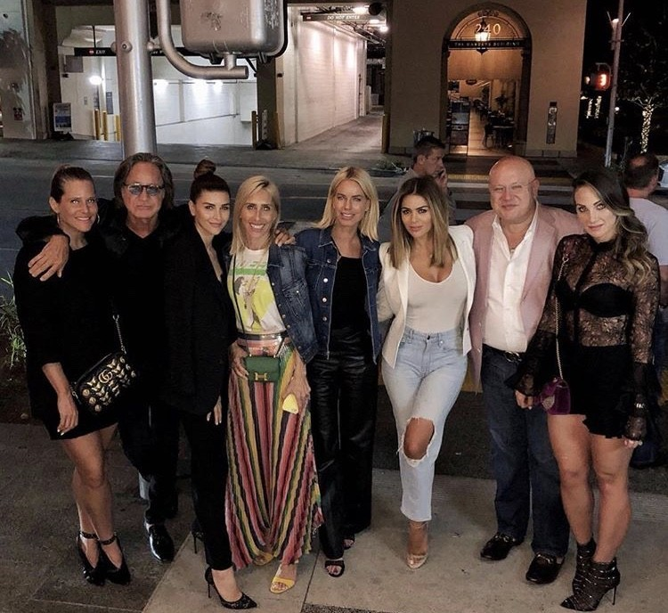 Mohamed Hadid, Shiva Safai, & Caroline Stanbury With Friends