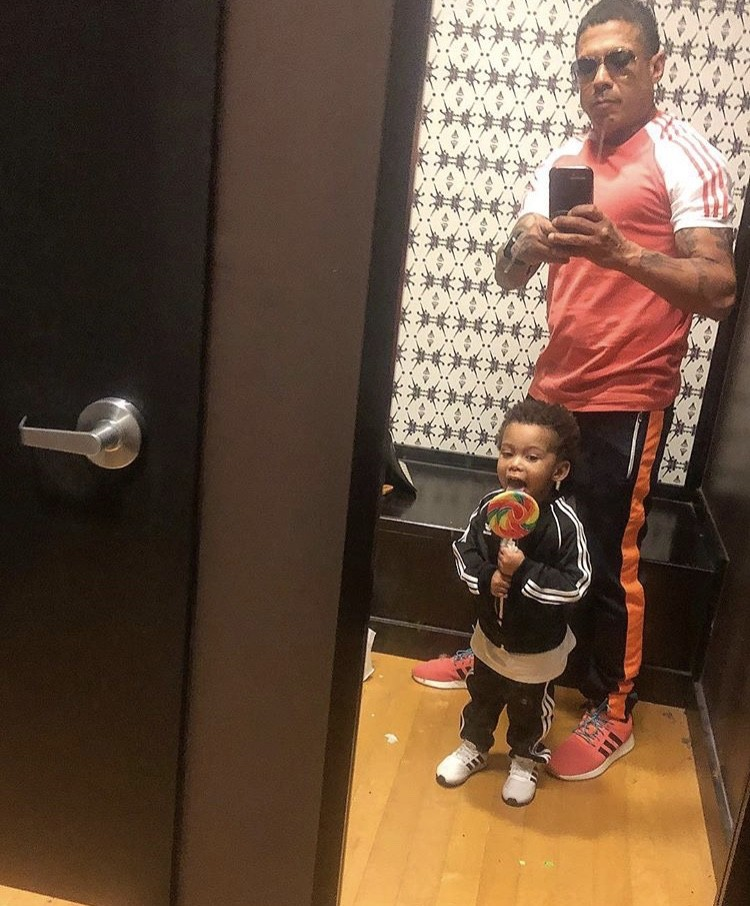 Benzino With His Son