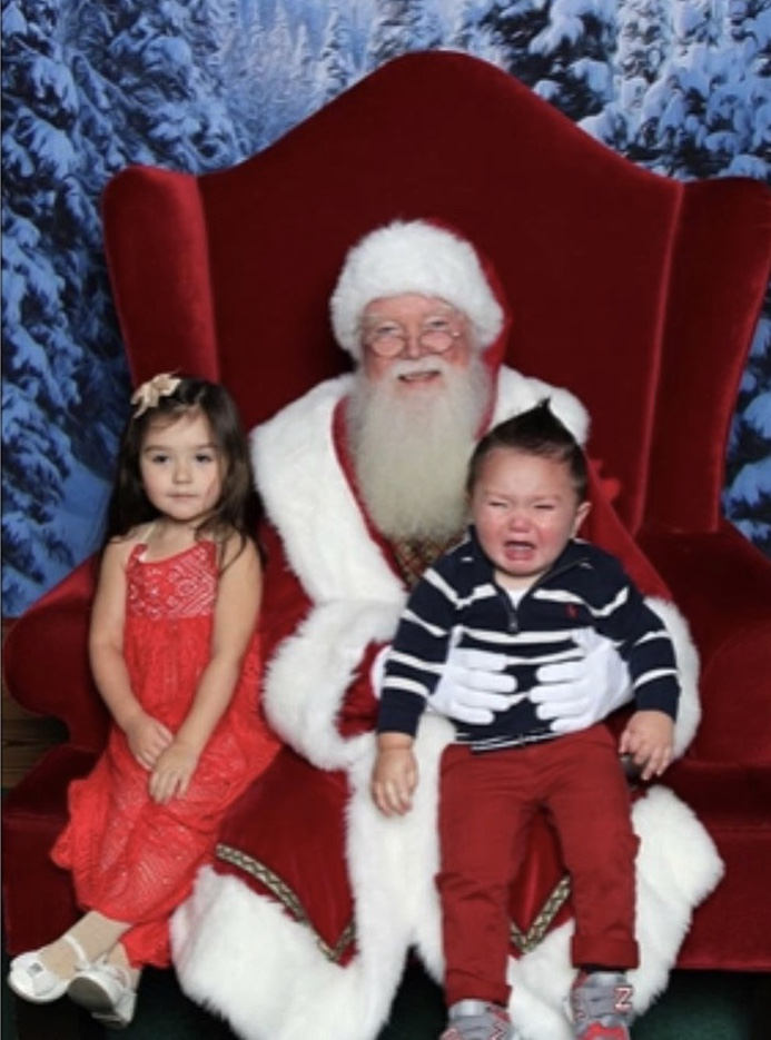 JWOWW's Kids On Santa's Lap