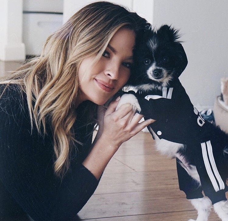 Becca Tilley With Her Dog Phoebe