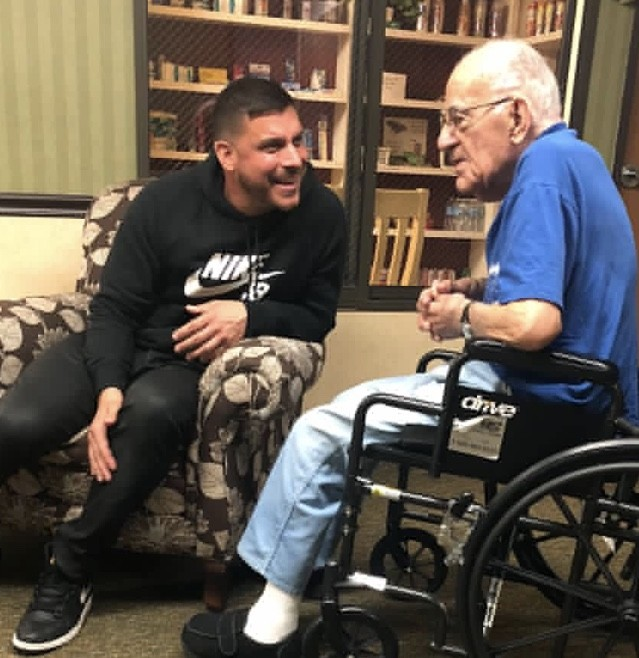 Jax Taylor With His Grandfather
