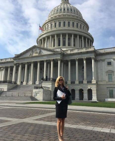 Camille Grammer In Washington DC