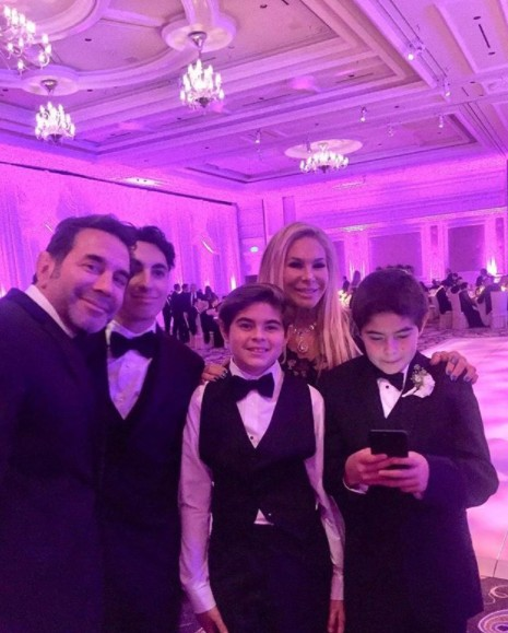 Adrienne Maloof With Paul Nassif & Their Sons