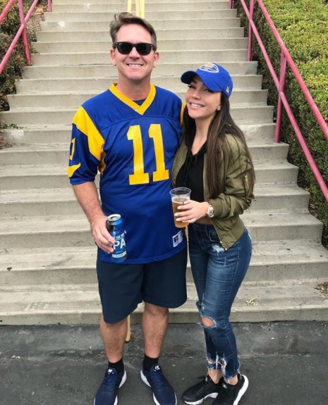 Jessica Parido At The Rams Game