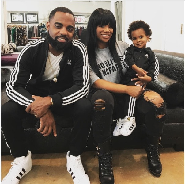 Kandi Burruss With Todd & Ace