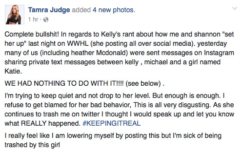 Tamra Denies Setting Kelly Up