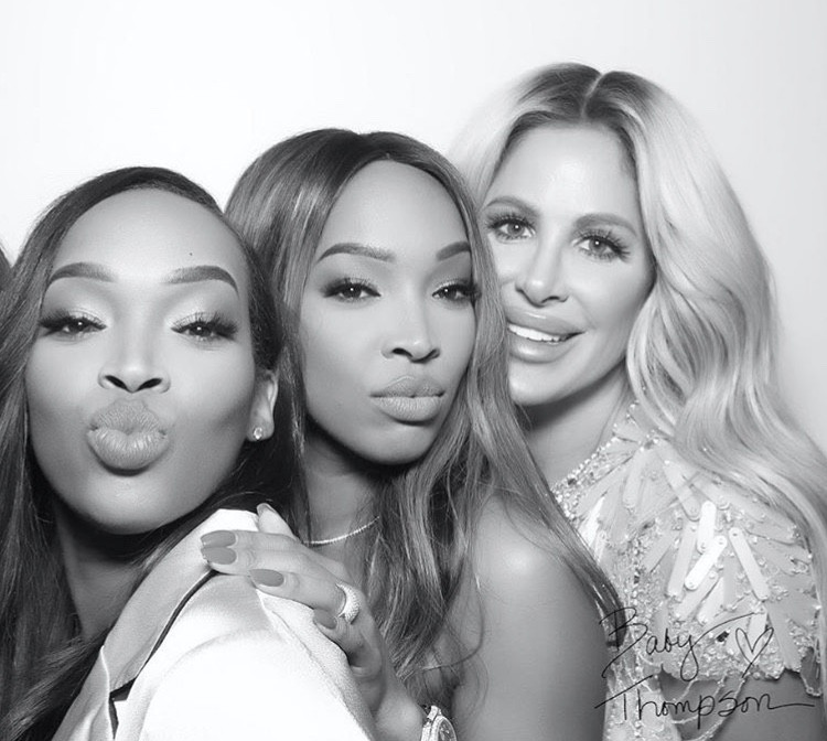 Khadijah & Malika Haqq With Kim Zolciak