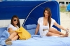 kim and kourtney kardashian beach 240912