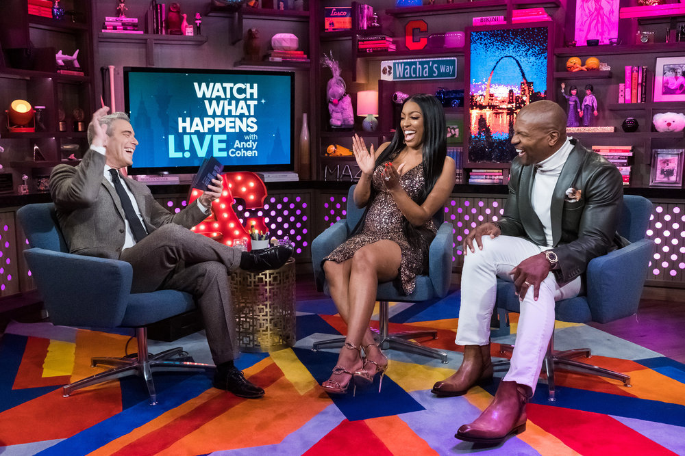 Andy Cohen, Porsha Williams, & Terry Crews