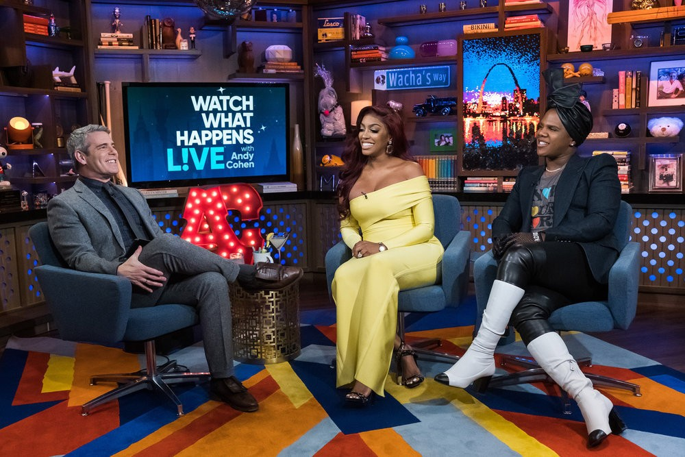 Andy Cohen, Porsha Williams, & Miss Lawrence