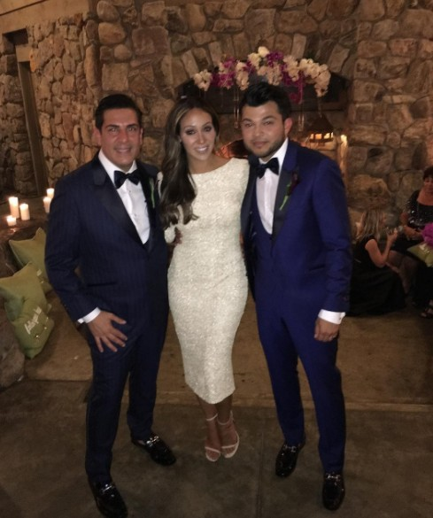 Melissa With the Grooms
