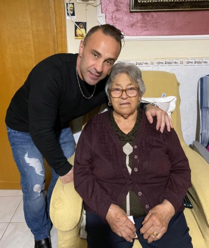 Joe With His Grandma