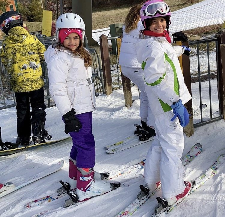 Audriana Skiing With A Friend